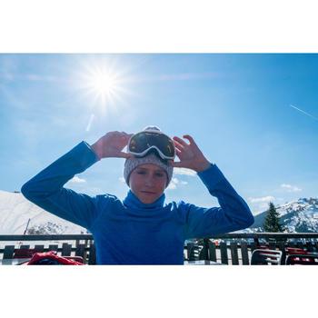 MASQUE DE SKI ET DE SNOWBOARD FEMME ET FILLE G 500 BEAU TEMPS BLANC