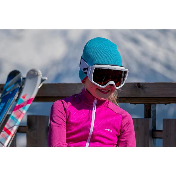 Skimütze wendbar Kinder rosa/blau