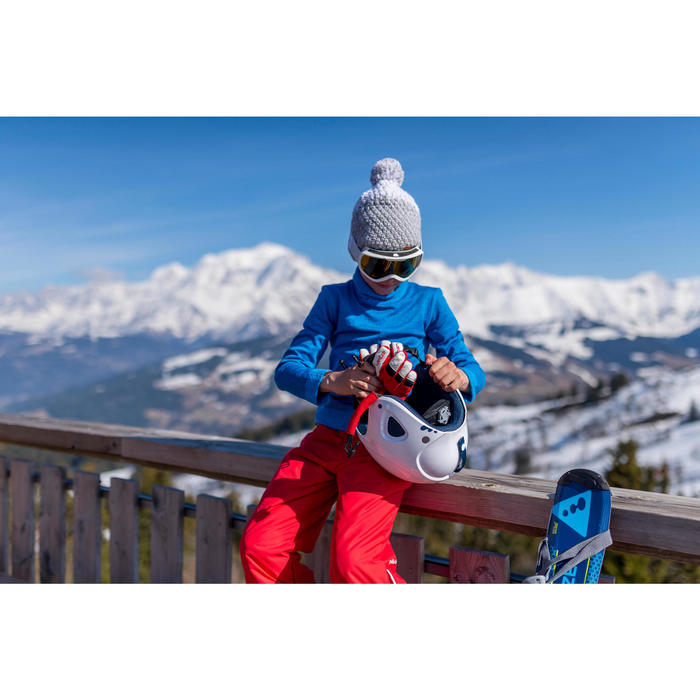 Camiseta térmica esquí y nieve interior wed'ze 2WARM Niños Azul