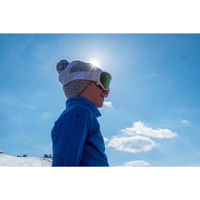 Skimuts Timeless voor kinderen wit / grijs