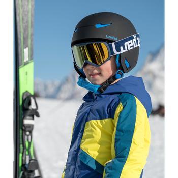 兒童滑雪衣PNF 500 - 藍色與黃色