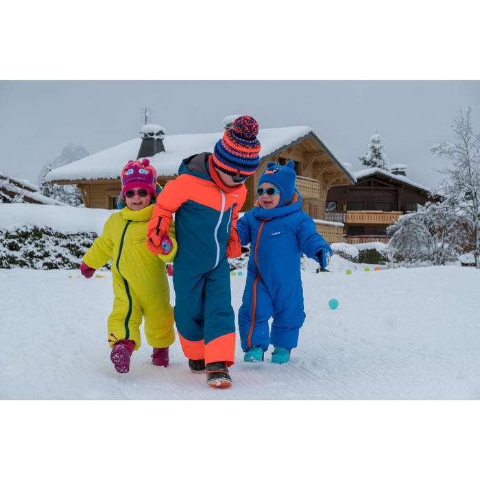 Skipak voor kinderen SKI-P SUIT 100 blauw oranje