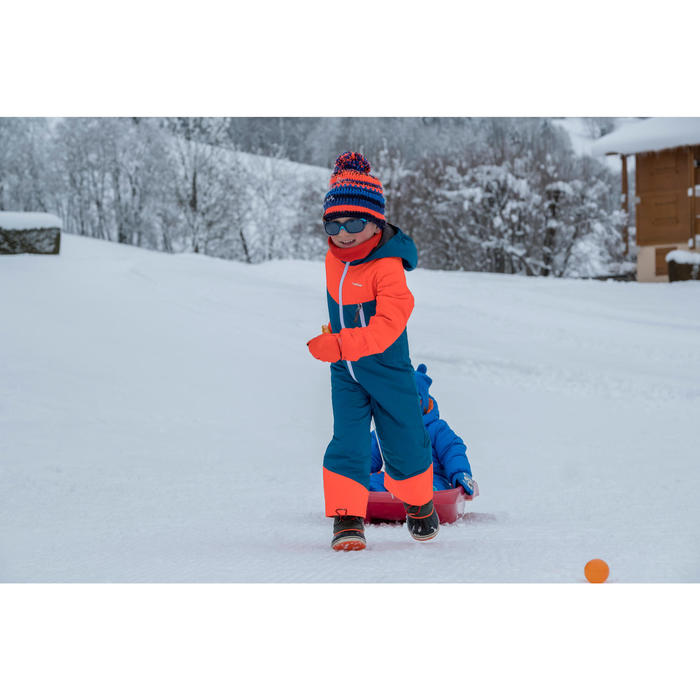 COMBINAISON DE SKI ENFANT SKI-P SUIT 100 BLEUE ORANGE