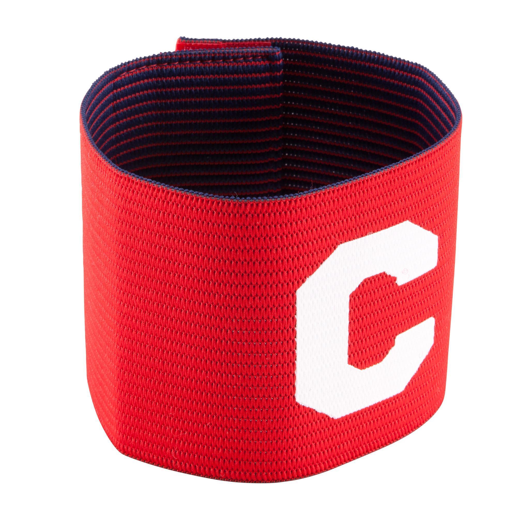 Kipsta Aanvoerdersband omkeerbaar voor kinderen en volwassenen rood/paars