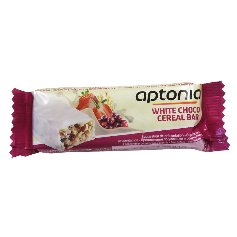 White Chocolate-Coated Cereal Bar 32g - Strawberry Cranberry