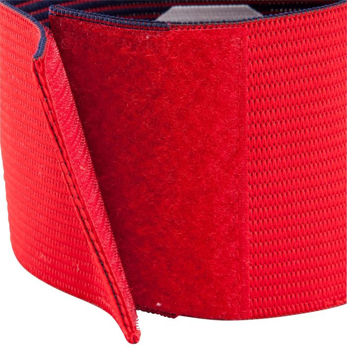 Brassard de capitaine reversible rouge violet - 124545
