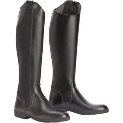 500 Adult Synthetic Horse Riding Long Boots - Black