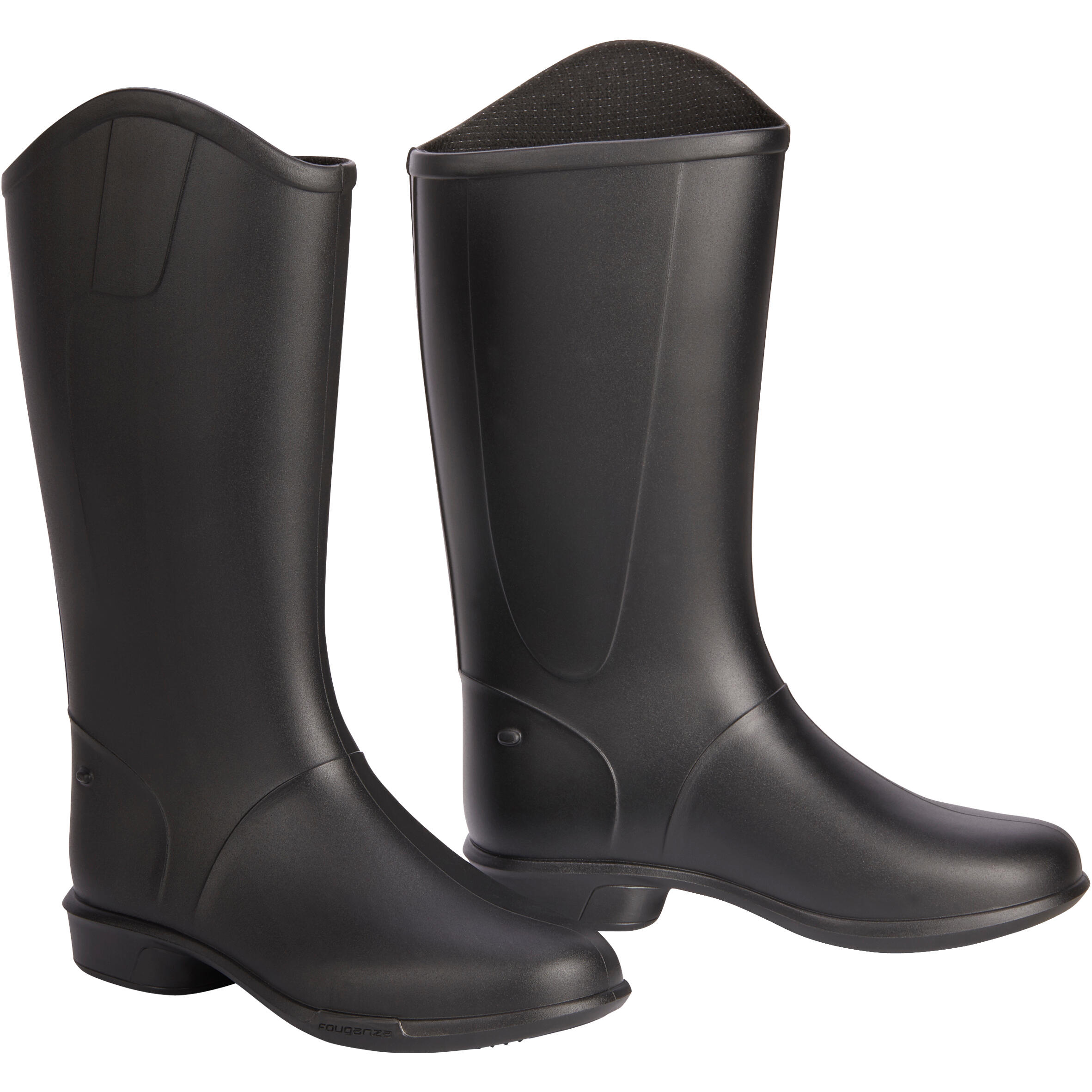 Schooling Kids' Horse Riding Boots - Black