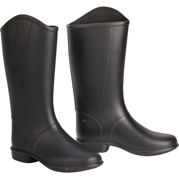 Bottes équitation enfant BH 100 noir - 1245487