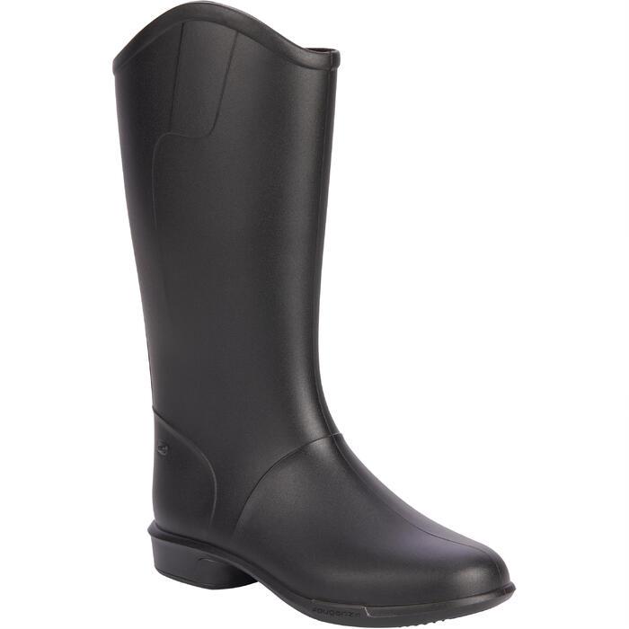 兒童款馬術馬靴100 - 黑色