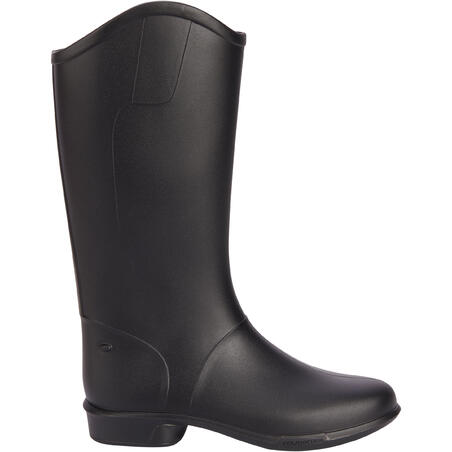 100 Children's Horseback Riding Boots - Black
