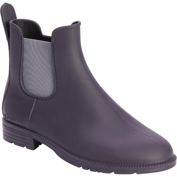 Boots équitation enfant 100 marine/gris