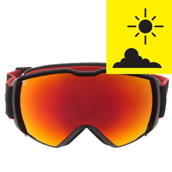 Skibrille Airflux Schönwetter schwarz/rot