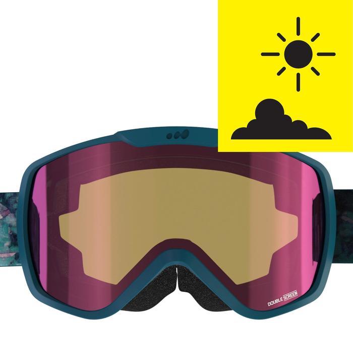 Skibrille / Snowboardbrille G 500 S3 Damen/Mädchen Schönwetter grün