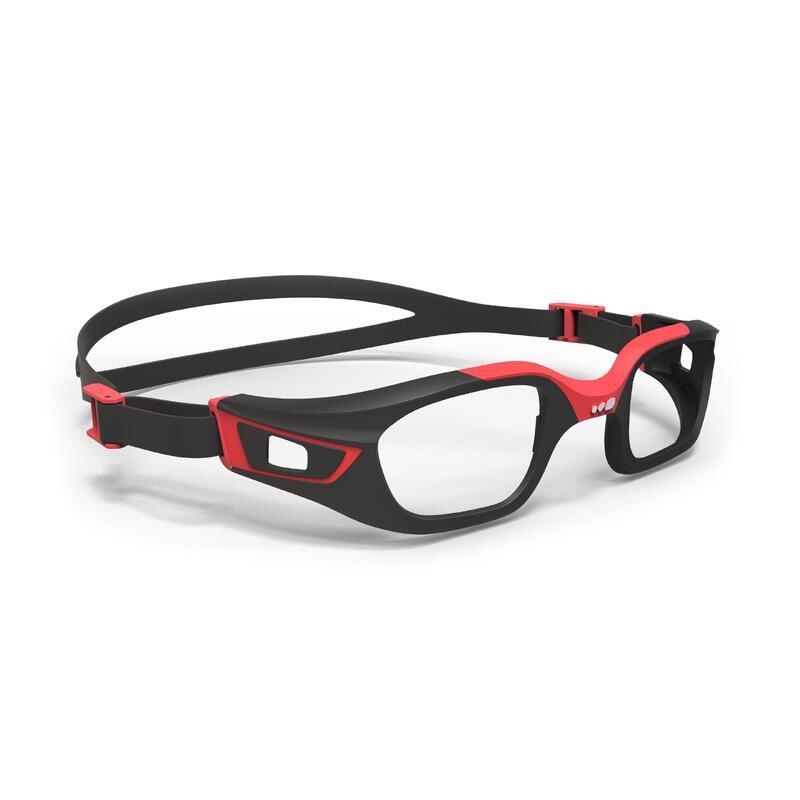 กรอบแว่นตาว่ายน้ำรุ่น 500 SELFIT ขนาด L (สีดำ/แดง)