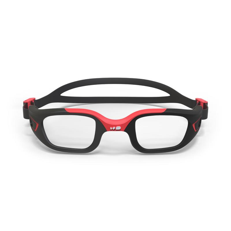 FRAME FOR CORRECTIVE SWIMMING GOGGLES SELFIT SIZE L - RED / BLACK