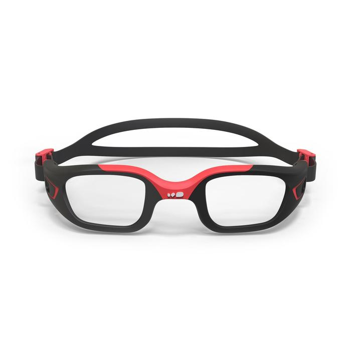 500 SELFIT Swimming Goggle Frame, Size L, Black Red