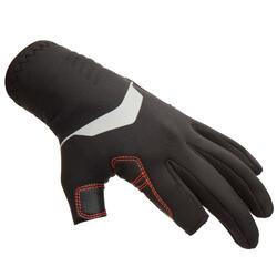 成人款1 mm氯丁橡膠(neoprene)3指手套900-黑色***
