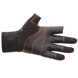 Zeilhandschoenen voor volwassenen 900 neopreen 1 mm 2 vingers vrij zwart