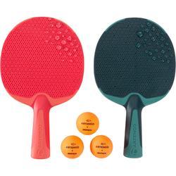 Tafeltennisset voor free pingpong 2 batjes FR 130 / PPR 130