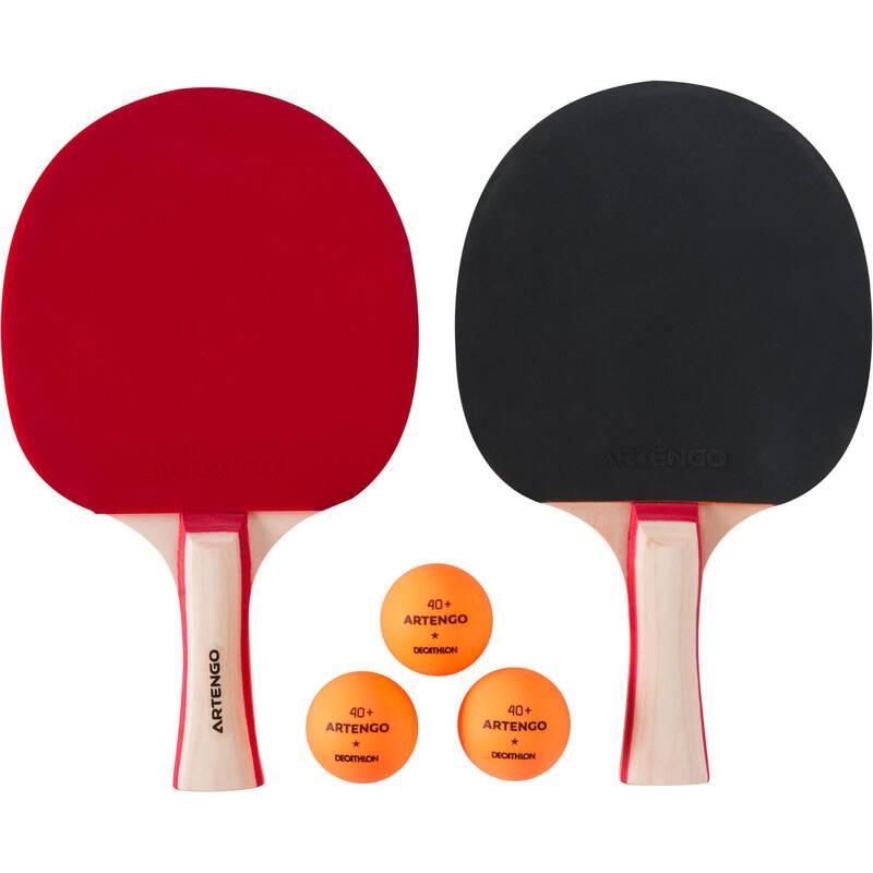 PÁLKY NA NA INDOOR STOLNÍ TENIS RAKETOVÉ SPORTY - SADA 2 PÁLEK PPR130 PONGORI - Stolní tenis, ping pong