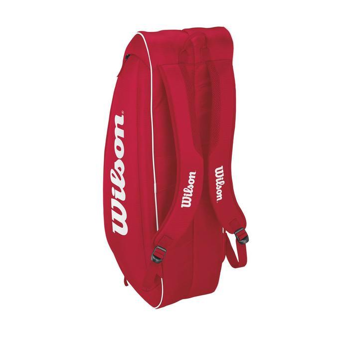 Sporttas voor rackets Wilson Roger Federer 6R rood