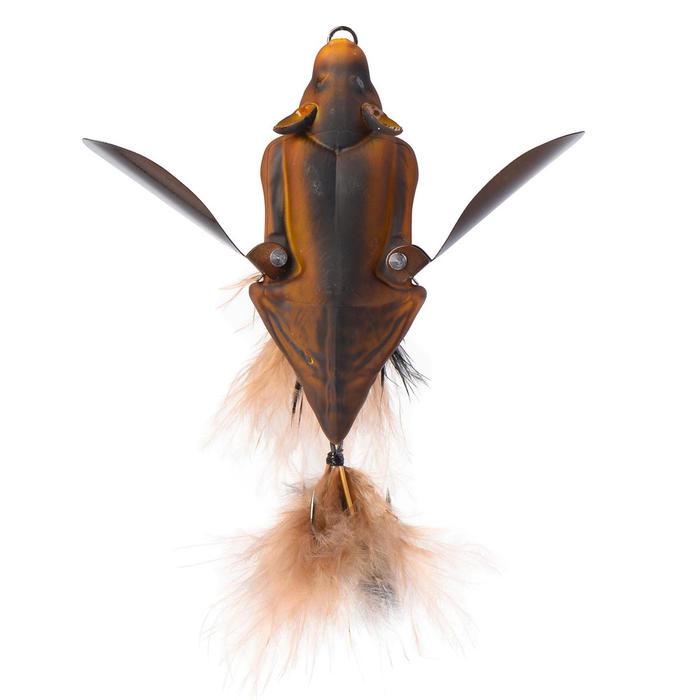 Kunstköder 3D Bat Brown 10cm Raubfischangeln