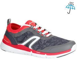 Waterdichte damessneakers voor sportief wandelen PW 580 RespiDry grijs / roze
