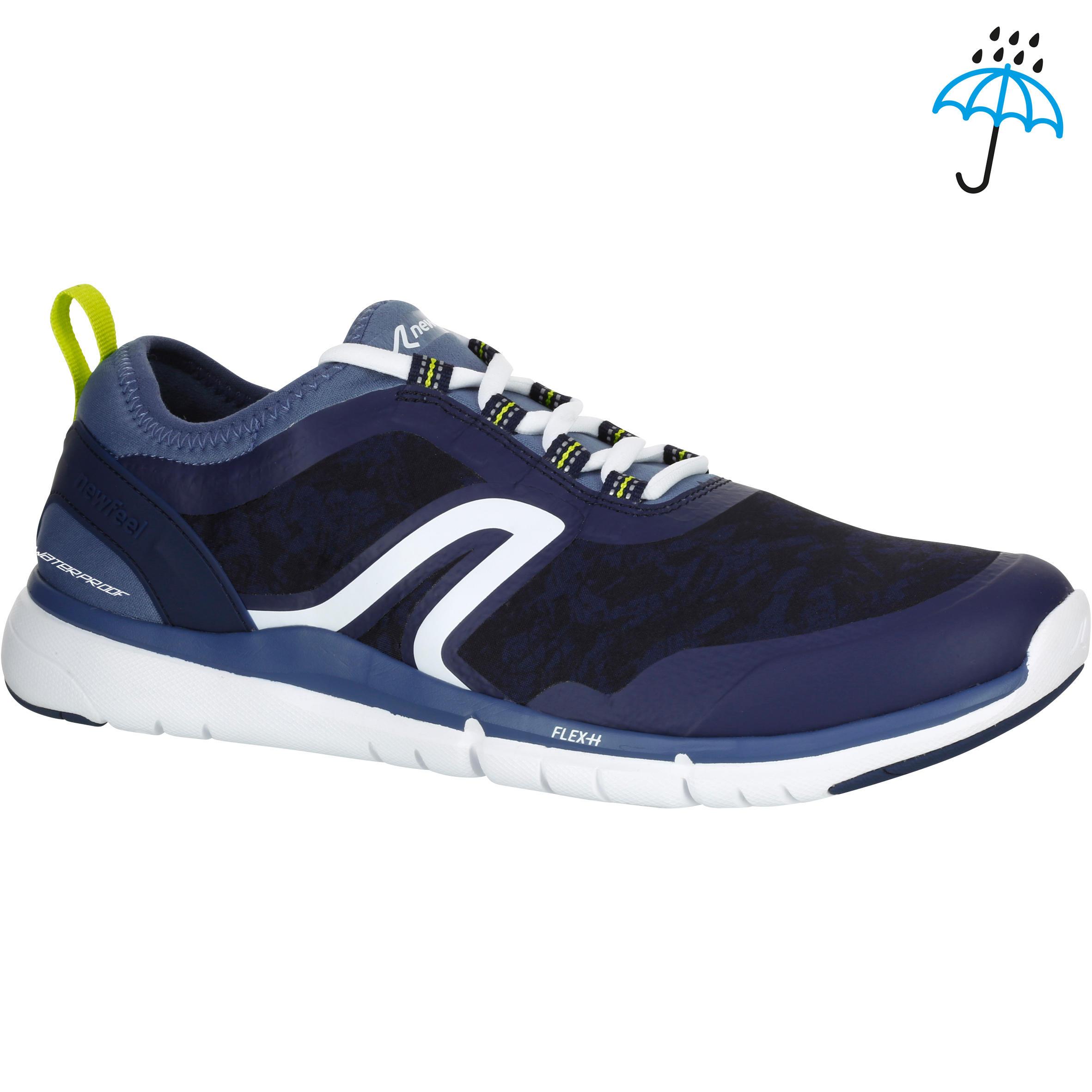 Tenis de caminata deportiva hombre PW 580 Waterproof azul / gris
