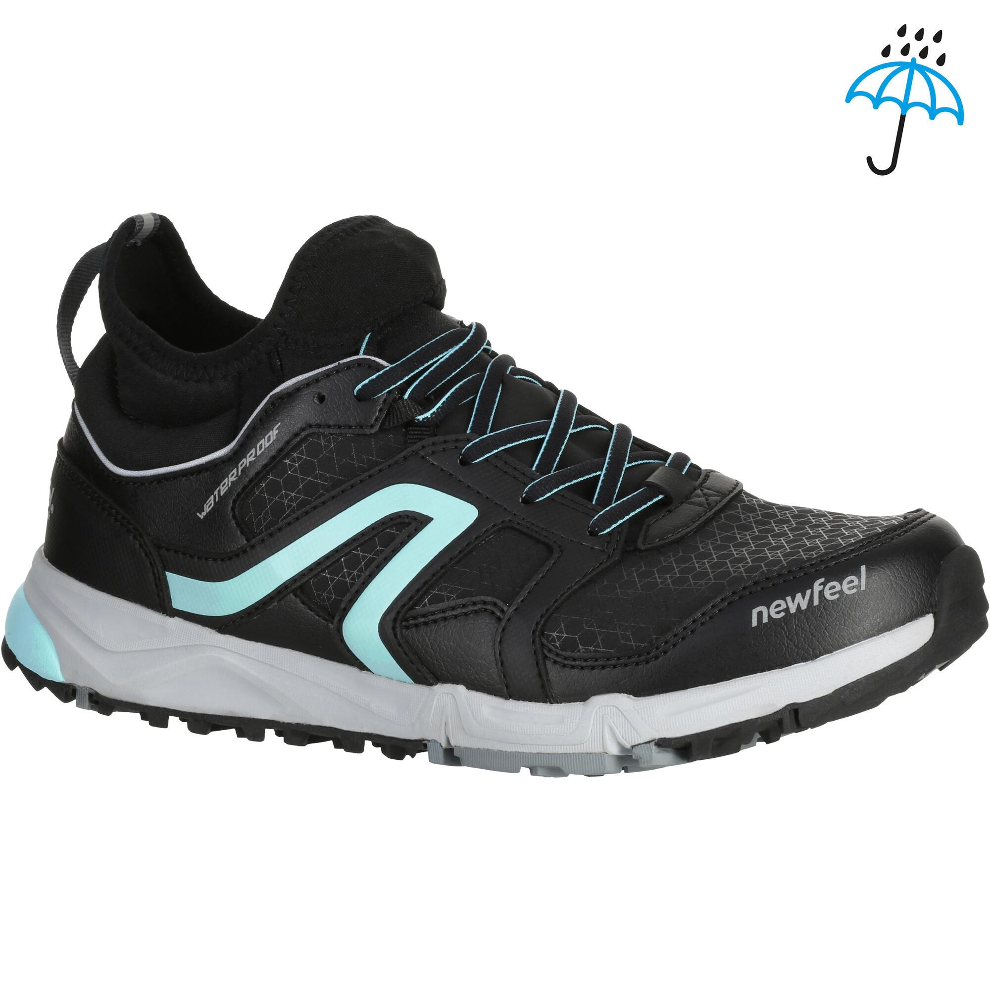 chaussures marche nordique femme nw580 noir bleu newfeel. Black Bedroom Furniture Sets. Home Design Ideas