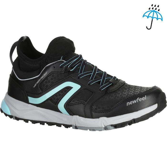 Chaussures marche nordique femme NW 580 Waterproof noir / bleu - 1245963