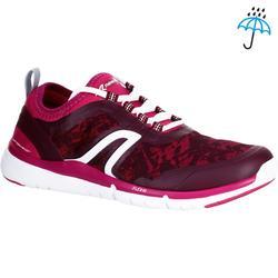 Zapatillas de marcha deportiva para mujer PW 580 impermeable violeta / rosa