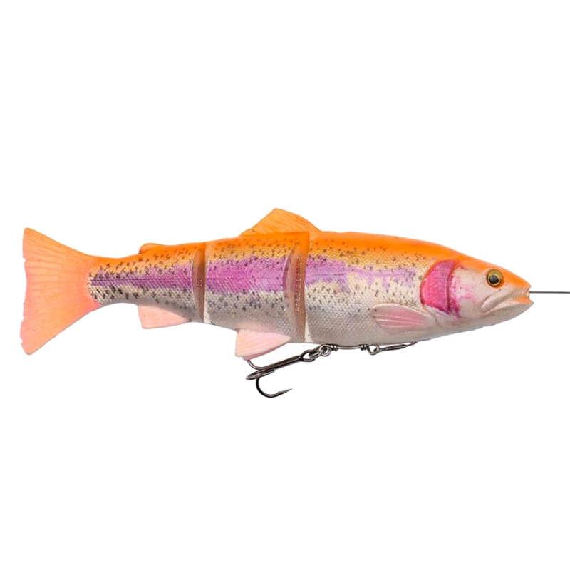 FISHING SOFTBAITS OVER 10 CM Fishing - 4D LINETHRU TROUT 20 CM ALBINO SAVAGE GEAR - Pike and Predator Fishing