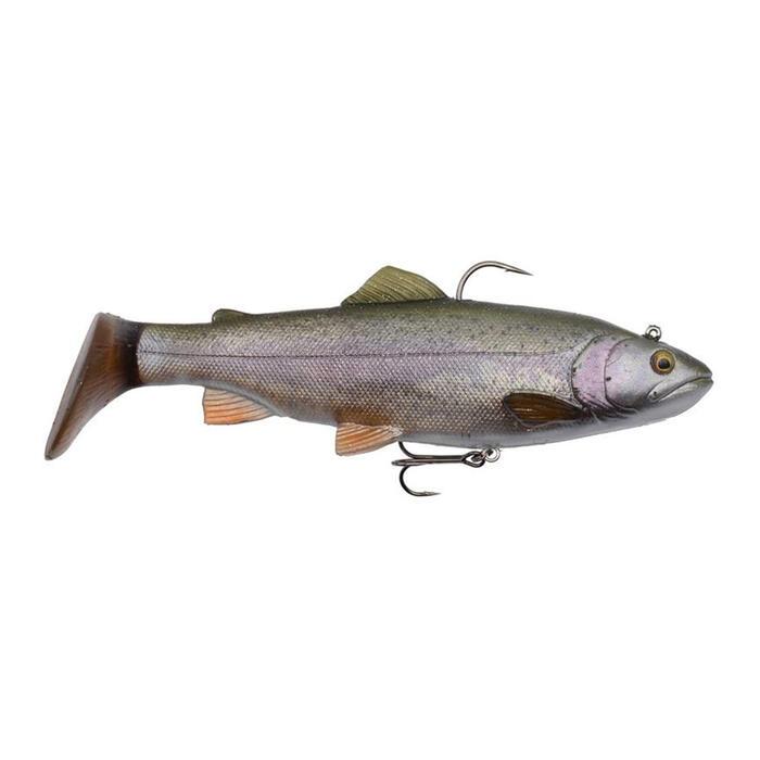Softbait voor roofvissen 4D rattle Trout 12,5 cm rainbow