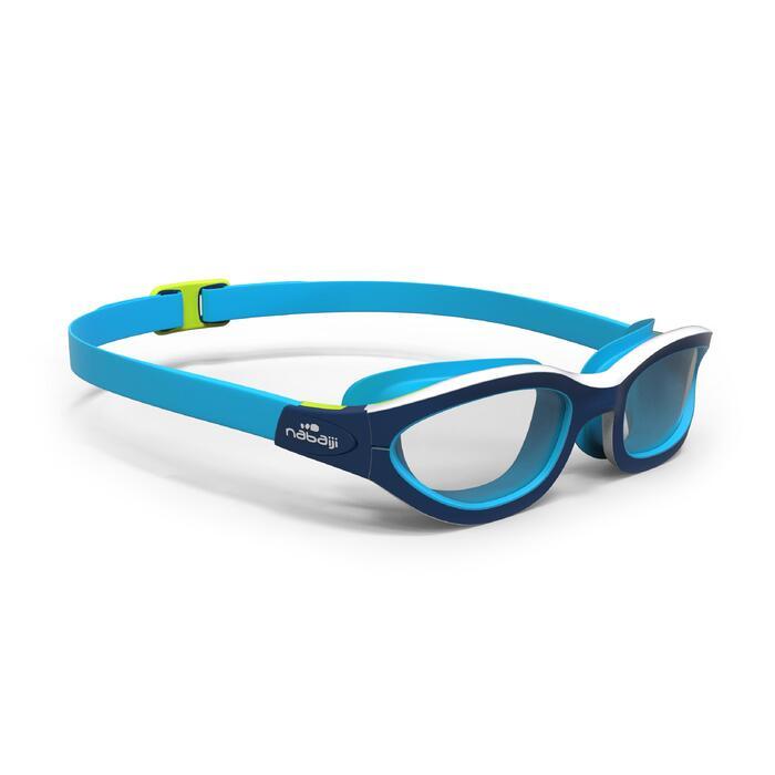 Schwimmbrille 100 Easydow Größe L blau/weiß