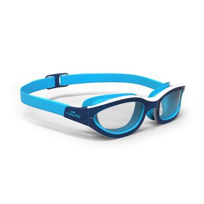 Lunettes de natation 100 EASYDOW Taille S Bleu Blanc