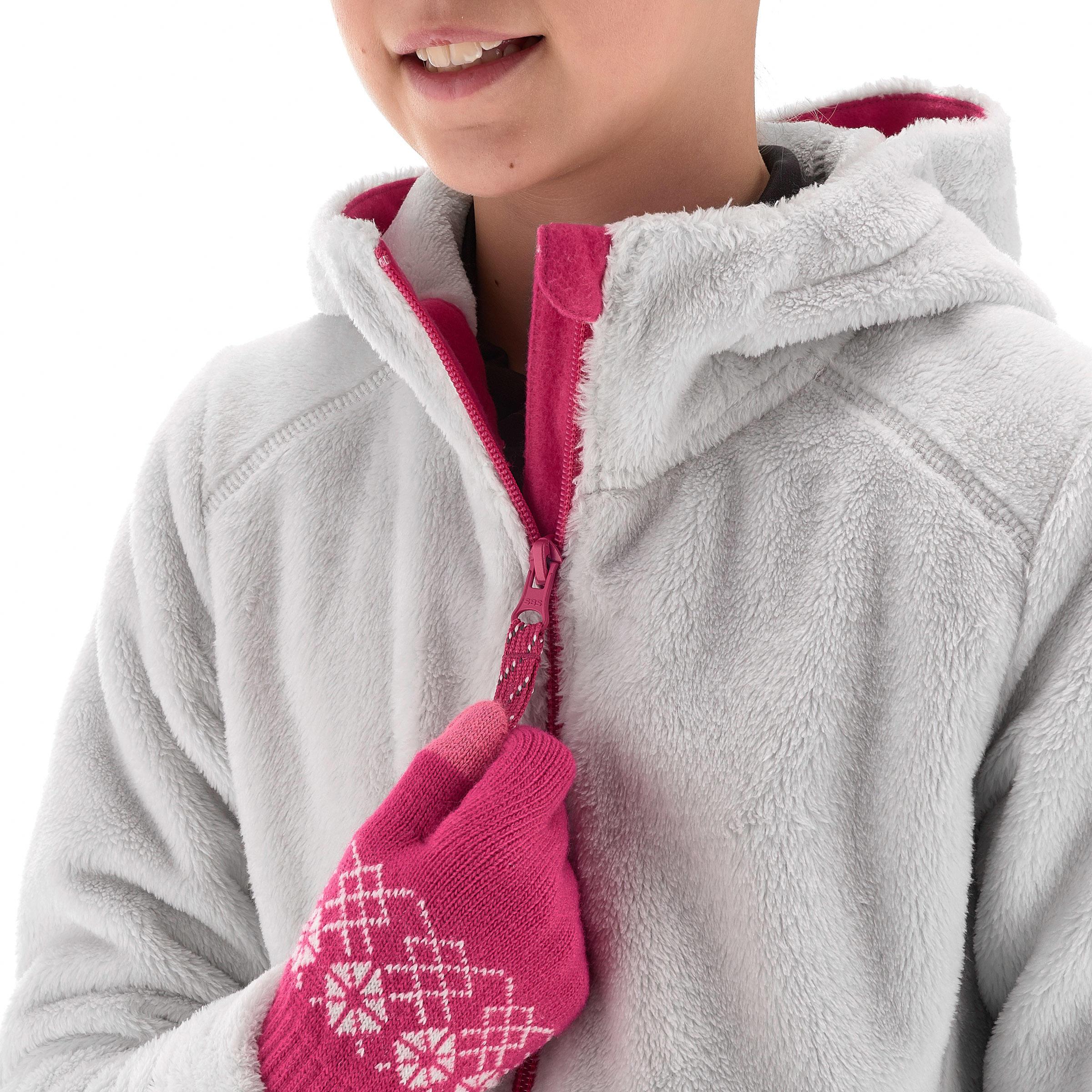 Polaire de randonnée neige junior SH100 chaude grise