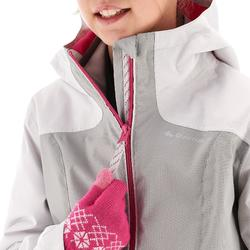 Hike 500 3-in-1 Girls' Hiking Warm Waterproof Jacket - Grey