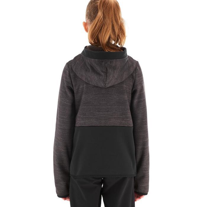Fleecevest voor meisjes Hike 550 zwart