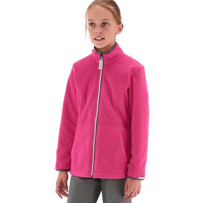Hike 500 3-in-1 Girls' Hiking Warm Waterproof Jacket - Grey