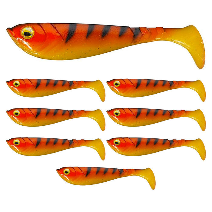 Jerkbait Pulse Shad 6 cm orange/schwarz