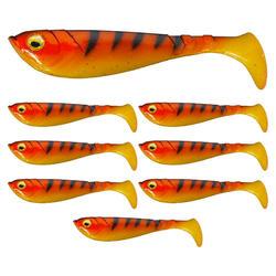 Kunstaas voor roofvissen pulse shad 6 cm oranje zwart
