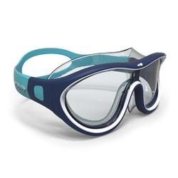 游泳面鏡100 SWIMDOW ASIA,L號 - 藍色白色