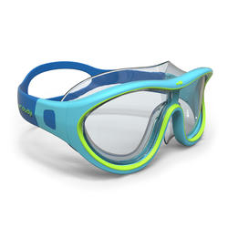 Masque de natation 100 SWIMDOW Taille P Bleu Vert