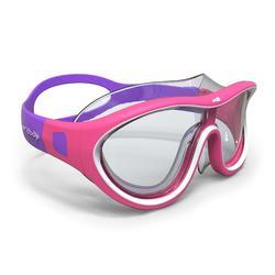 Máscara de natación 100 SWIMDOW Talla S Rosa Blanco