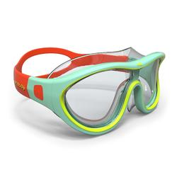 游泳面鏡100 SWIMDOW ASIA,L號 - 藍色黃色