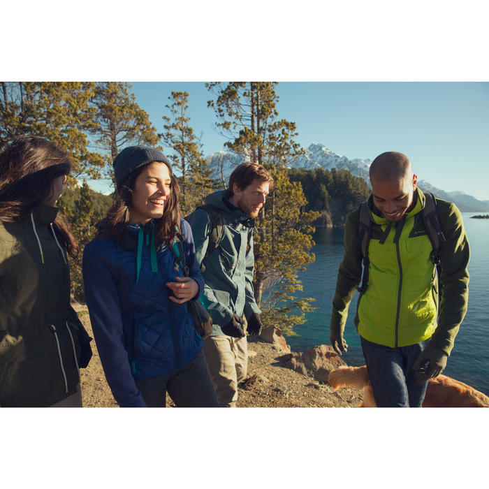Men's nature hike pullover Arpenaz Hybrid brown - 1246439
