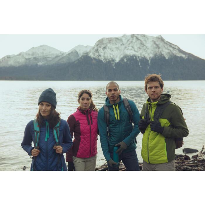 Men's nature hike pullover Arpenaz Hybrid brown - 1246451