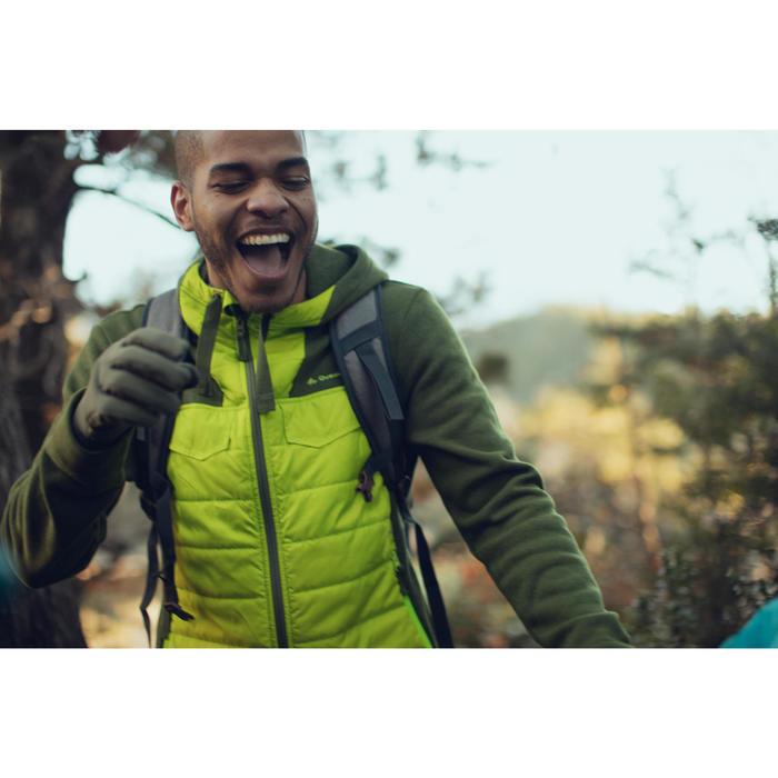 Men's nature hike pullover Arpenaz Hybrid brown - 1246467
