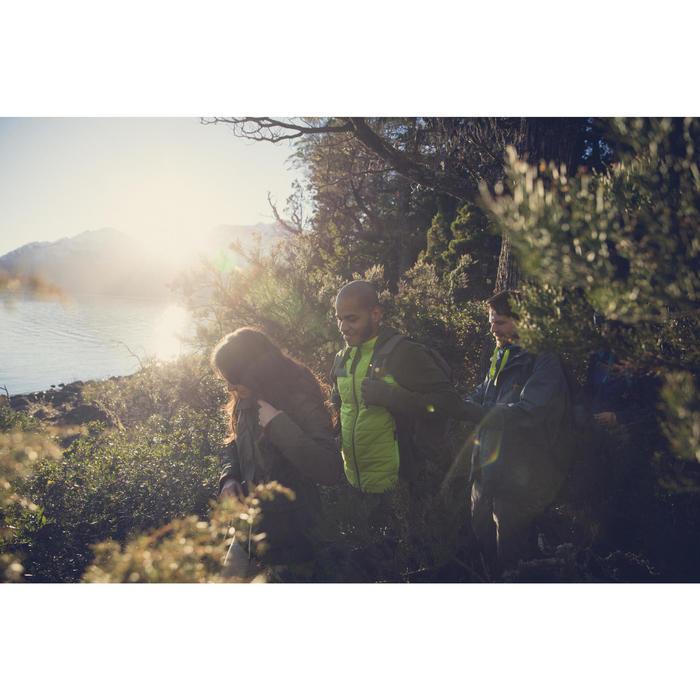 Men's nature hike pullover Arpenaz Hybrid brown - 1246480